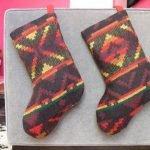 Флисовые рождественские носочки (МК)