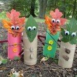 Сказочные человечки из осенних листьев