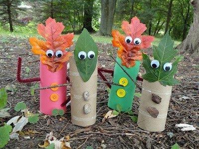 материалы природные, поделки осенние, , поделки из природных материалов, своими руками, для детского сада, для школы, мастер-класс, идеи, из осенних листьев, из втулки, из картона,