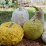 Декор тыквы из шнура или веревки