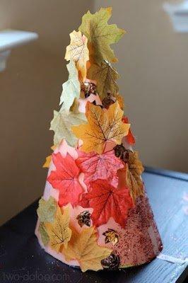 осеннее рукоделие, поделки осенние, поделки в детский сад, украшение интерьера, стиль осенний, для осенних праздникоа, мотивы осенние, плдедки их листьев, поделки своими руками, своими руками, листья из бумаги, поделки на конусе, поделки из листьев, из бумаги, поделки для детей,