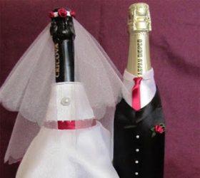 жених, невеста, одежда на бутылки, свадебный декор, украшение бутылок, шампанское свадебное, свадьба, декор свадебный, оформление бутылок, декор свадебного шампанского, декор шампанского, декор бутылок, свадьба, подарки на свадьбу