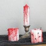 «Кровавые» свечи своими руками