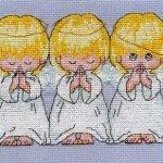 Вышиваем ангелов: схемы для вышивки крестом