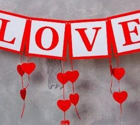 гирлянды, гирлянды из сердечек, гирлянды на День влюбленных, декор на День влюбленных, 14 февраля, День святого Валентина, украшения для дома, праздничный декор, своими руками, идеи декора, идеи на день влюбленных, украшение интерьера,