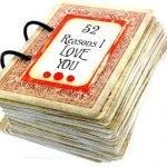 «52 причины любить тебя» — необычный подарок любимому