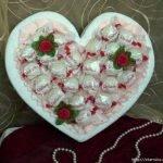 Конфетное сердце-коробка на День Святого Валентина (МК)