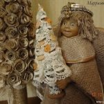 Рождественский ангел из старой куклы