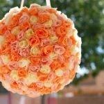 Цветочный шар из гофрированной бумаги (МК)