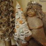 Рождественский ангел из старой куклы - мастер-класс