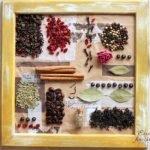 Коллажи для кухни из продуктов и специй - МК и идеи