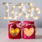 Романтический подсвечник из стеклянной банки (МК)