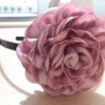 Роза в технике канзаши. Мастер-класс