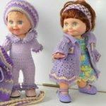 Вязаная одежда для кукол — фото-идеи