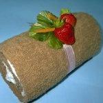 «Шоколад со сливками» - рулет из полотенец (МК)