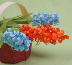 цветы бумажные, цветы из бумаги, из бумаги, из ксероксной бумаги, гиацинты, гофробумага, цветы декоративные, цветы для украшения, цветы своими руками, своими руками, мастер-класс, изготовление цветов, поделки из бумаги, на 8 марта,