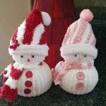 Снеговики из носочков своими руками - МК и идеи