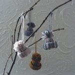 Мини-шапочки для новогоднего декора