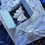 Ангел на окне - рождественская открытка, мастер-класс