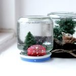 Снежная банка - новогодний сувенир своими руками