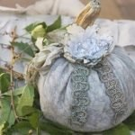 Винтажные тыквы из ткани на Хэллоуин - фото-идеи