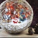 Ажурные елочные шары своими руками - МК и идеи