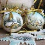 Декупаж новогодних шаров - МК и идеи